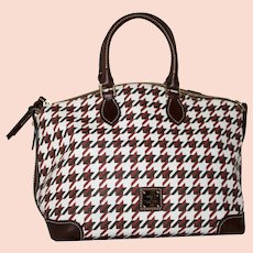 Vintage Dooney & Bourke Domed Satchel from the Houndstooth Collection