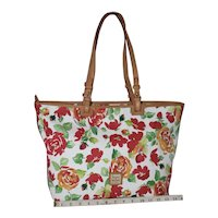 Vintage Dooney & Bourke Bloom Leisure Roses Tote XL