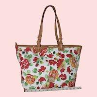 Vintage Dooney & Bourke Bloom Leisure Roses Tote XL