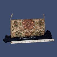 Vintage Oscar de la Renta Needlepoint Evening Bag from Italy