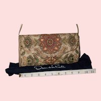 Vintage Oscar de la Renta Needlepoint Evening Bag from Italy