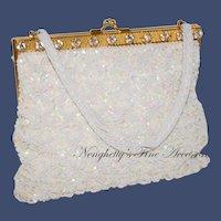 1950s K. Gimbel Framed Sequined Evening Bag