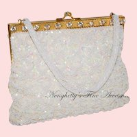 1950s K. Gimbel Framed Sequined Evening Bag