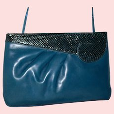 Vintage Salvatore Ferragamo Convertible Evening Clutch from Italy