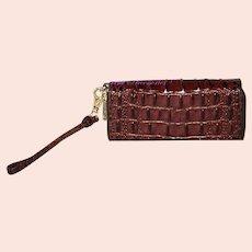 Vintage Brahmin Zoe Double Zip Wristlet Wallet