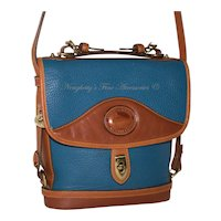 Vintage Dooney & Bourke Carrier Bag R702 FB in French Blue