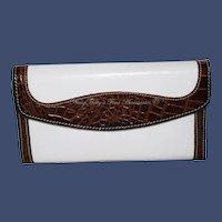 Vintage Brahmin Soft Checkbook Tri-Fold Clutch Wallet