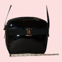 Salvatore Ferragamo Vara Satchel in Patent Leather from Italy