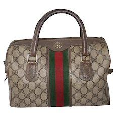 Vintage Gucci Boston Bag Rare Large Model with Key Pouch