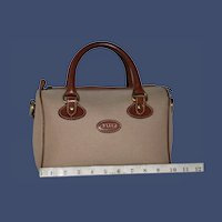 Vintage Bally Twill Valise from Italy