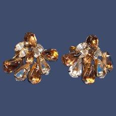 1950s Cluster Clip-on Earrings