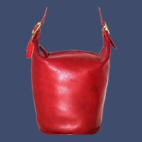 Vintage Coach Duffle Sac Model 9085 in Red