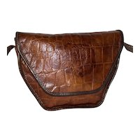 Vintage Carlos Falchi Alligator Shoulder Bag