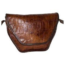 Vintage Carlos Falchi Alligator Shoulder Bag