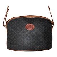 Vintage Longchamp Monogram Domed Shoulder Bag from France