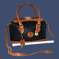 Vintage Dooney & Bourke Doctor's Satchel Bag Model R-03