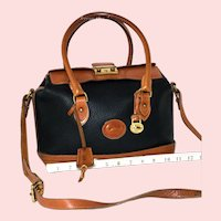 Vintage Dooney & Bourke Doctor's Satchel Bag Model R-03