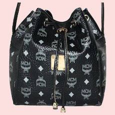 Vintage MCM Drawstring Tote from the Original Visetos Collection