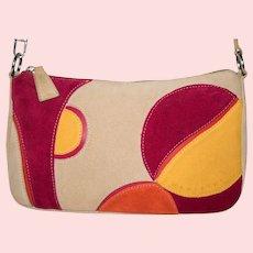 Vintage Lamarthe Excentric Portofino Red Fire Shoulder Bag