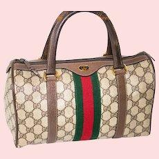 Vintage Gucci Boston Bag SAC Rare Medium Model