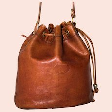 Vintage Longchamp Drawstring Tote from France