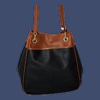 Vintage  Bottega Veneta Marco Polo Nero Leather Tote from Italy