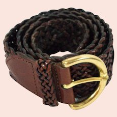 Vintage Coach Woven Leather Belt Style #8541