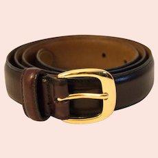 Vintage Cole-Haan Men's Leather Dress Belt