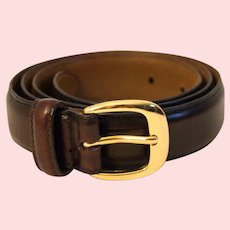 Vintage Cole-Haan Men's Leather Dress Belt