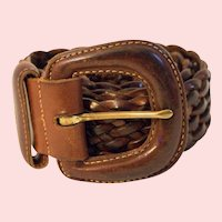 Vintage Coach Woven Leather Belt Style #3581