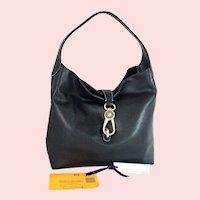 Vintage Dooney & Bourke Logo Lock Shoulder Bag 2L740 BL