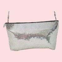 Vintage Whiting & Davis Silver Mesh Crossbody Bag