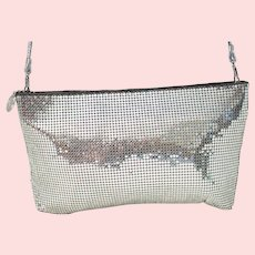 Vintage Whiting & Davis Silver Mesh Crossbody Bag