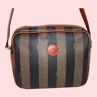 Vintage Fendi Roma Pequin Stripe Shoulder Bag from Italy