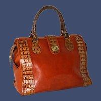 Vintage Brahmin Brulee Tuscan Satchel