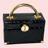 1950s Koret Alligator Evening Box Bag