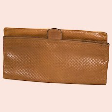 1980s Mark Cross Foldover Clutch from Italy