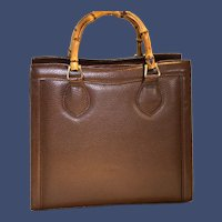 Vintage Gucci Bamboo Top Handle Valise