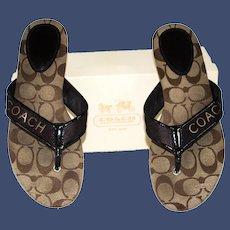 Coach Skyler Web Thong Sandals Style A8290