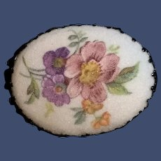 1960s Sugared Floral Brooch from West Germany