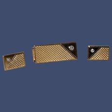 Vintage Pierre Cardin Money Clip and Cufflink Set