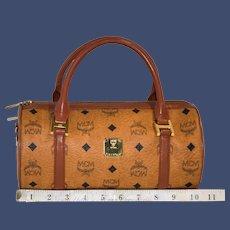 Vintage MCM Barrel Handbag from the Original Visetos Collection