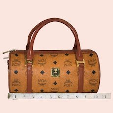 Vintage MCM Barrel Handbag from the Original Visetos Collection