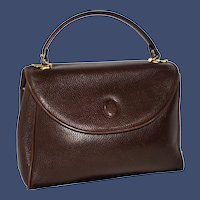 """Vintage Mark Cross Pebbled Leather """"Murphy"""" Top Handle from Italy"""