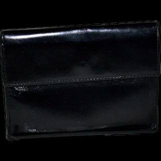 Prada Men's Nero Spazzolato Tri-Fold Wallet
