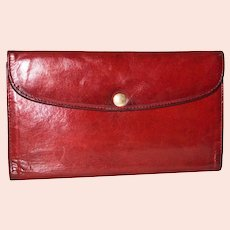 1970s Coach Combination Wallet/Chequebook Style #4730