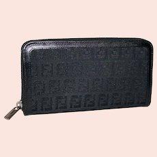 Fendi Continental Zip Around Clutch Wallet from Rome