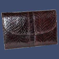 Vintage Snakeskin Envelope Tri-Fold Wallet