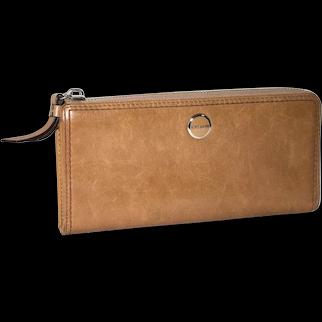 Vintage  Coach Poppy Leather Slim Zip Clutch Wallet Style # 47046