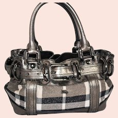 Vintage Burberry Shimmer Baby Beaton Bag from Italy